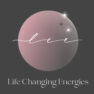 Life Changing Energies logo with grey background